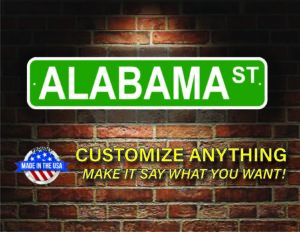 Street Sign Customization Alabama