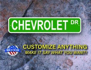 Street Sign Customization Chevrolet