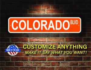 Street Sign Customization Colorado