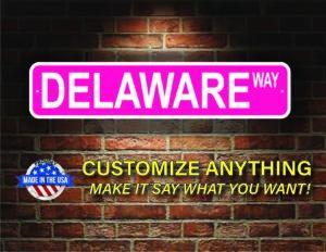Street Sign Customization Delaware