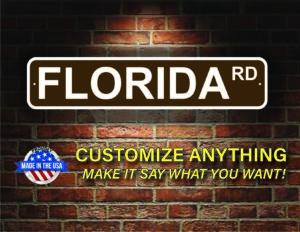 Street Sign Customization Florida
