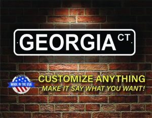 Street Sign Customization Georgia