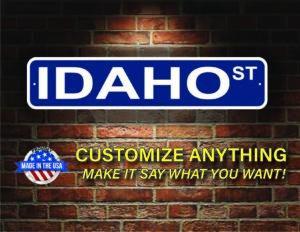 Street Sign Customization Idaho