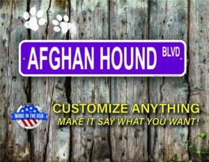 Street Sign Customization Afghan Hound