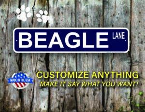 Street Sign Customization Beagle