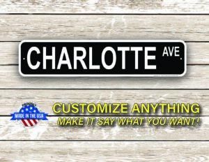 Street Sign Customization Charlotte