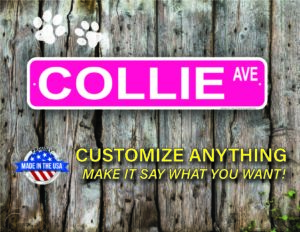 Street Sign Customization Collie
