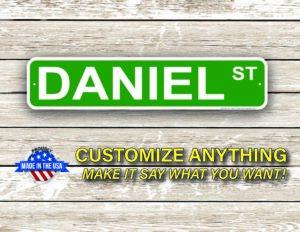 Street Sign Customization Daniel