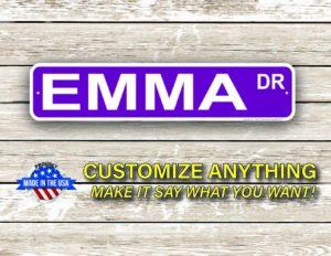 Street Sign Customization Emma