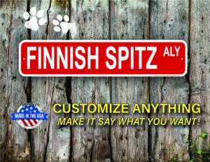 Street Sign Customization Finnish Spitz
