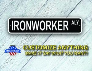 Street Sign Customization Ironworker