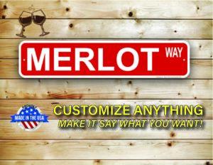 Street Sign Customization Merlot