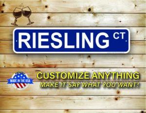 Street Sign Customization Riesling