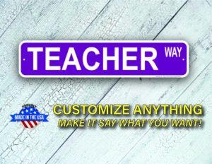 Street Sign Customization Teacher