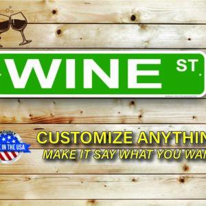 Wine Street Signs