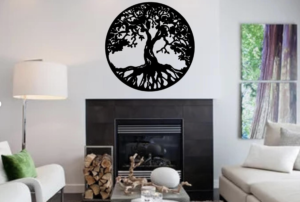 CNC Tree of Life in Living Room
