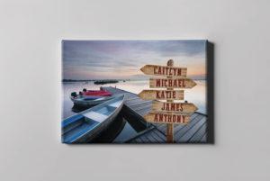 Lake and Boat Canvas Print
