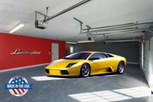 Lamborghini Brushed Aluminum Sign