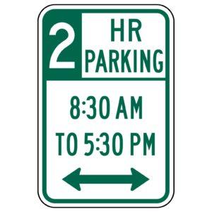 2 Hour Parking Both Ways Sign