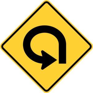 Left 270 Degree Turn Sign