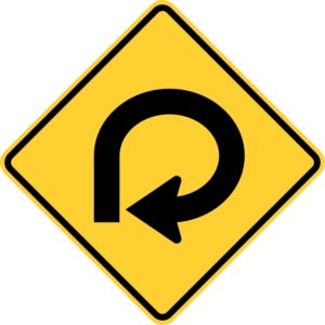 Right 270 Degree Turn Sign