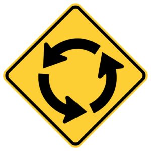 Circle Intersection Counter Clockwise Sign