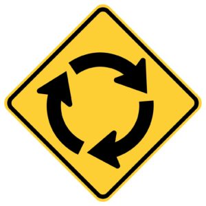 Circle Intersection Clockwise Sign