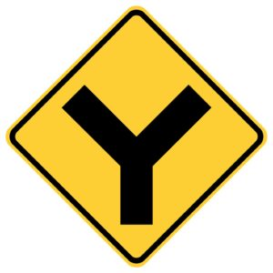 Y Intersection Sign