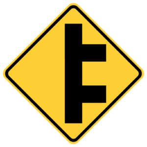 Double Sided Road Right Sign