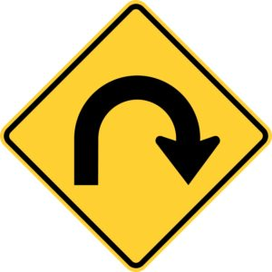 Hairpin Curve Right Sign