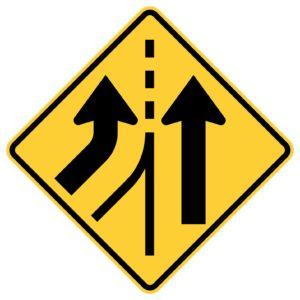 Left Lane Added Sign