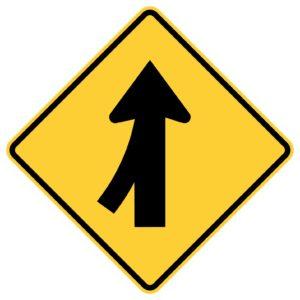 Left Lane Merge Sign