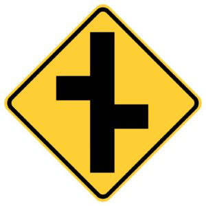 Road Junction Right First Sign