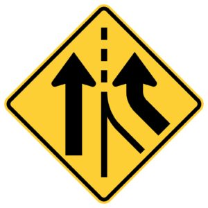Right Lane Added Sign