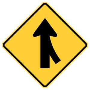 Right Lane Merge Sign