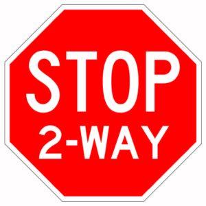 Stop 2-Way Sign