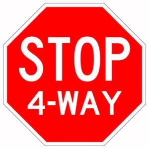 Stop 4-Way Sign