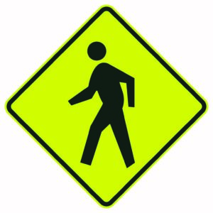 Pedestrian Symbol Sign
