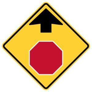 Stop Ahead symbol Sign