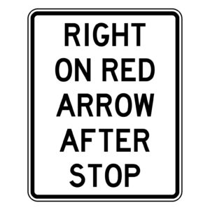 Right on Red Arrow After Stop Sign