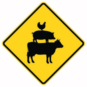 Farm Animal Crossing Xing Sign