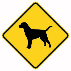 Dog Crossing Xing Sign