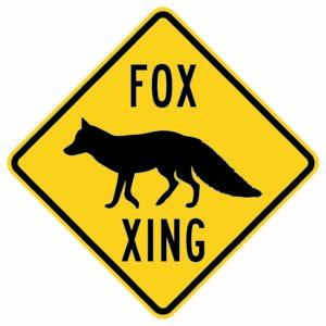 Fox Crossing Xing Sign