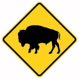 Buffalo Crossing Xing Sign