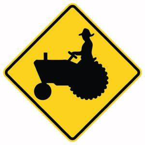 Tractor Crossing Symbol Xing Sign