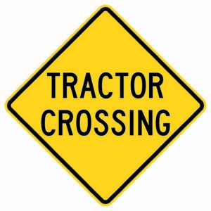 Tractor Crossing Xing Sign