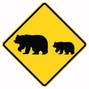Bear Crossing Xing Sign