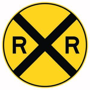 Railroad Crossing Xing Sign