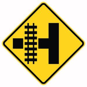 Highway Light Transit Left Xing Sign