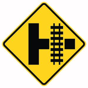 Highway Light Transit Right Xing Sign